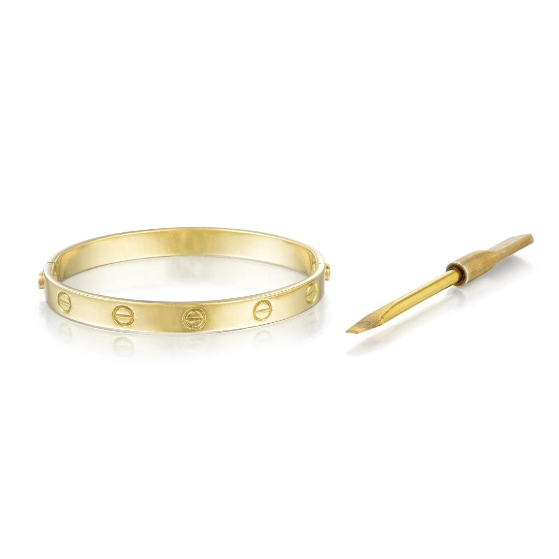 Cartier 18K Gold Love Bangle, with Screwdriver