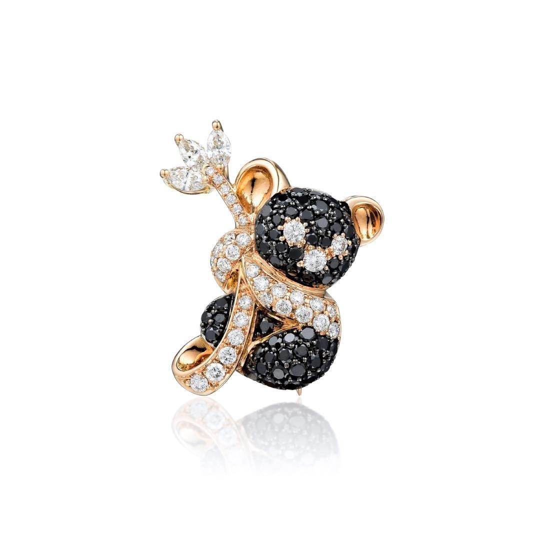 An 18K Gold Diamond Koala Pendant/Pin