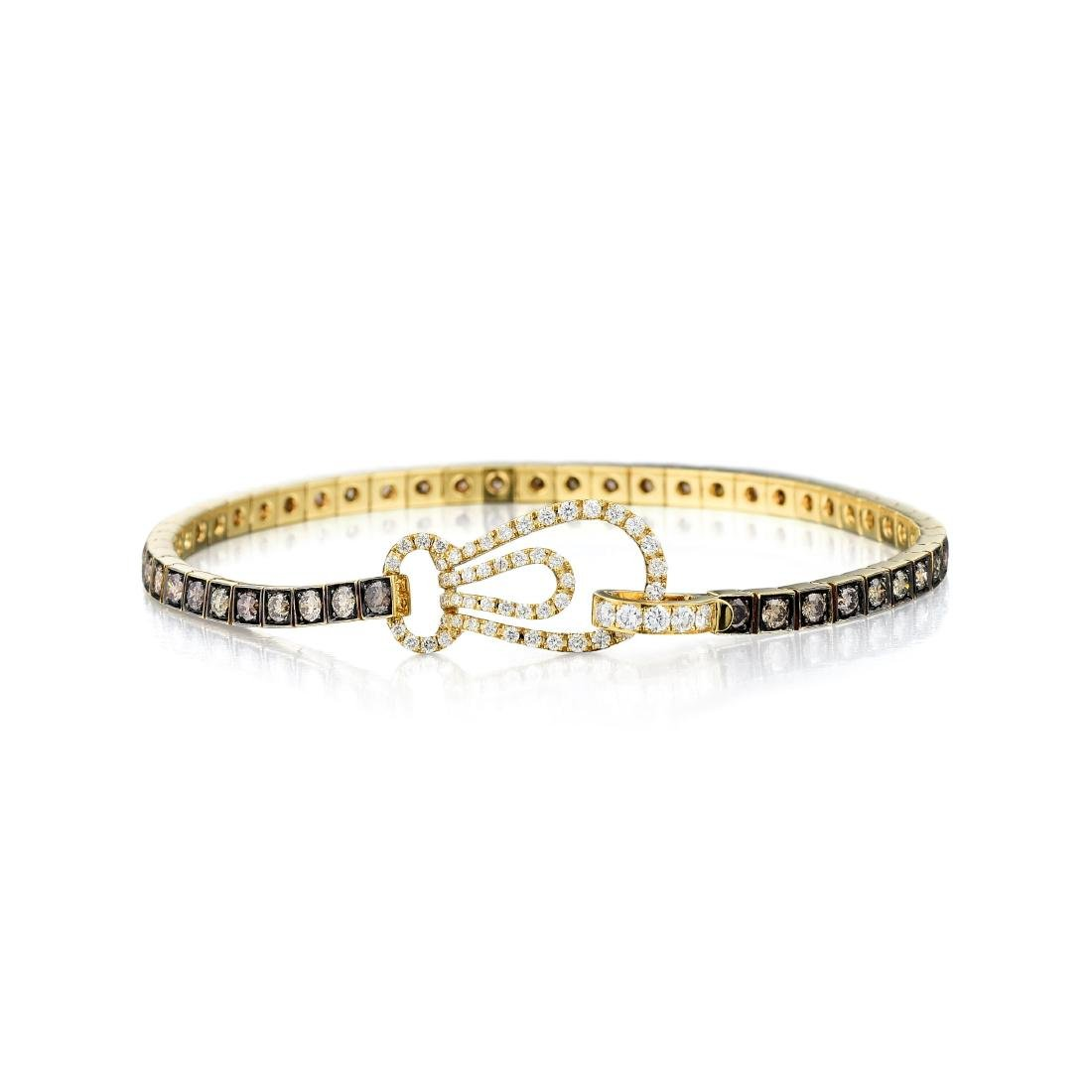 An 18K Colored Diamond Bracelet