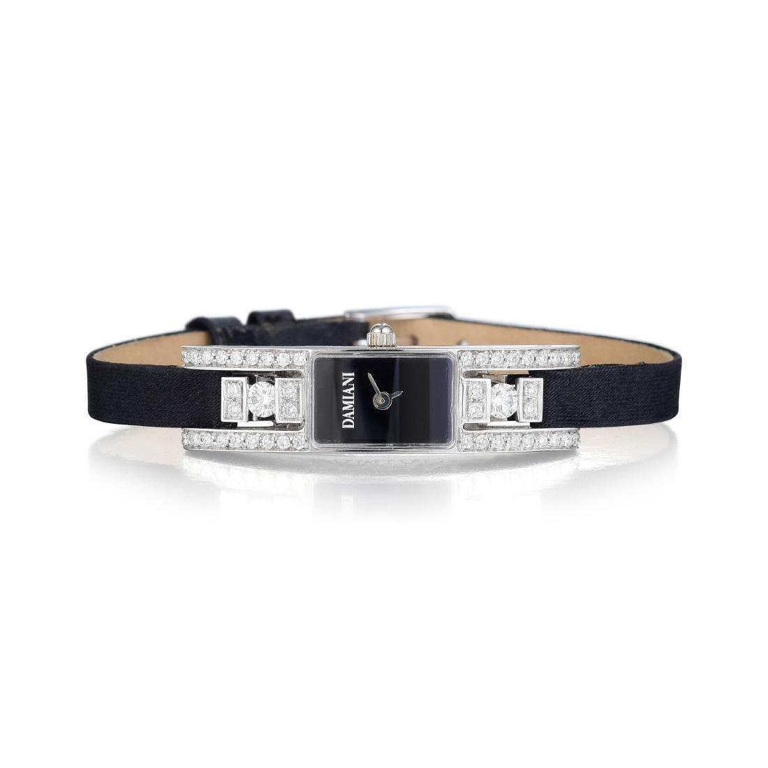 Damiani 18K White Gold and Diamond Ladies Watch