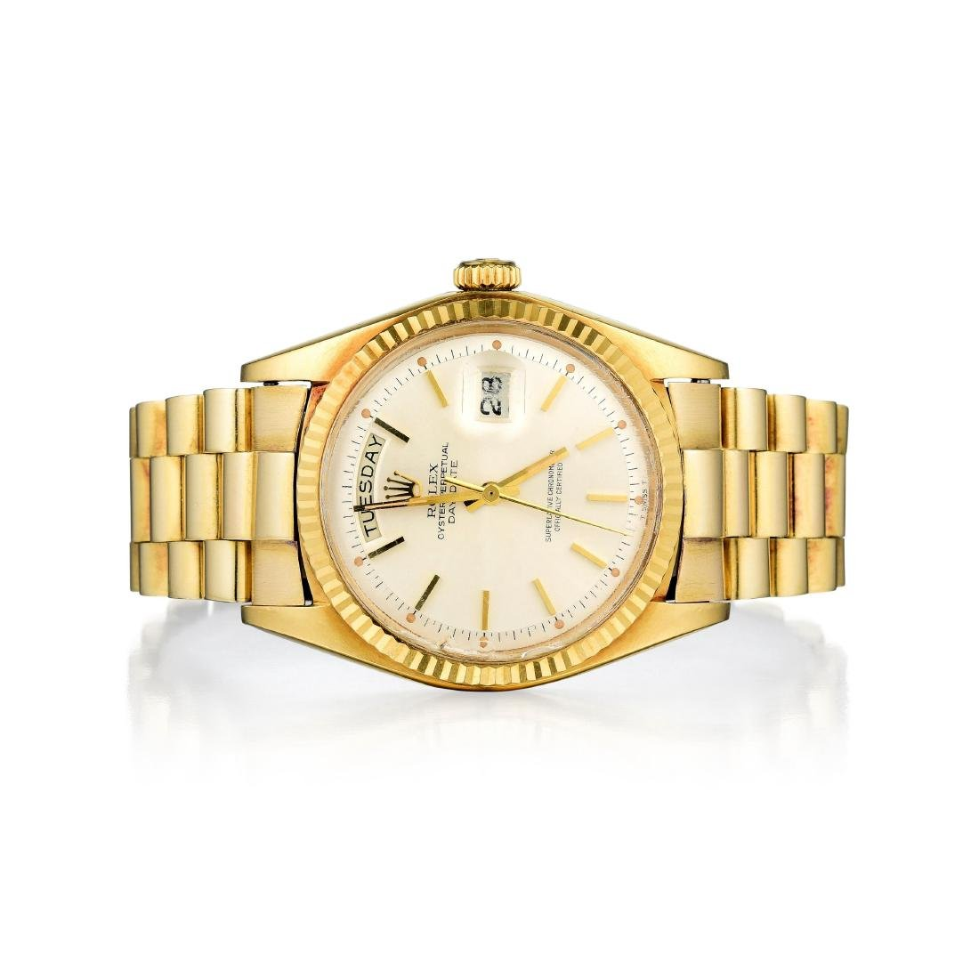 Rolex 18K Gold Gents Oyster Perpetual Day Date Watch,