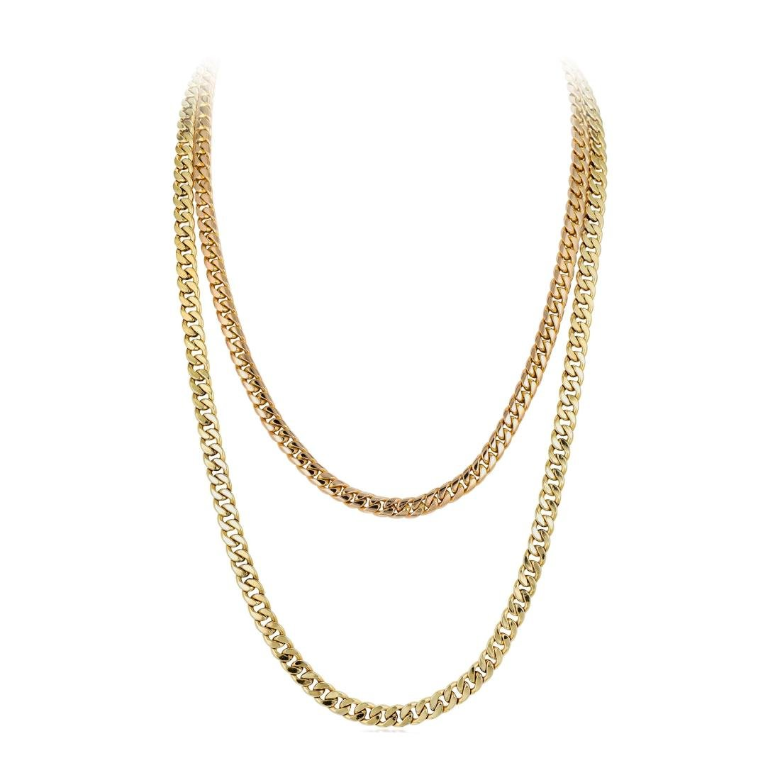A Group of 14K Gold Chains