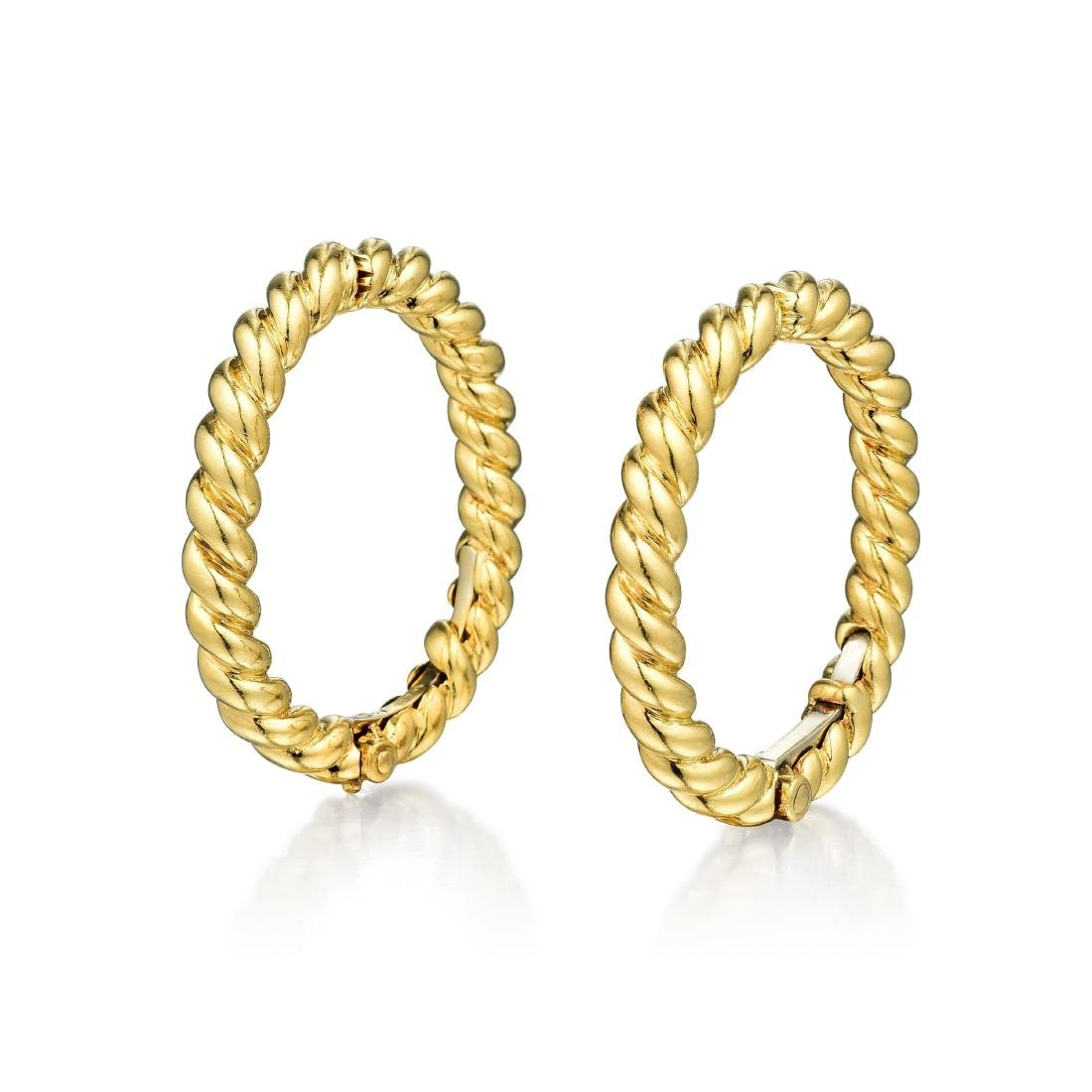 David Webb 18K Gold Hoop Earrings