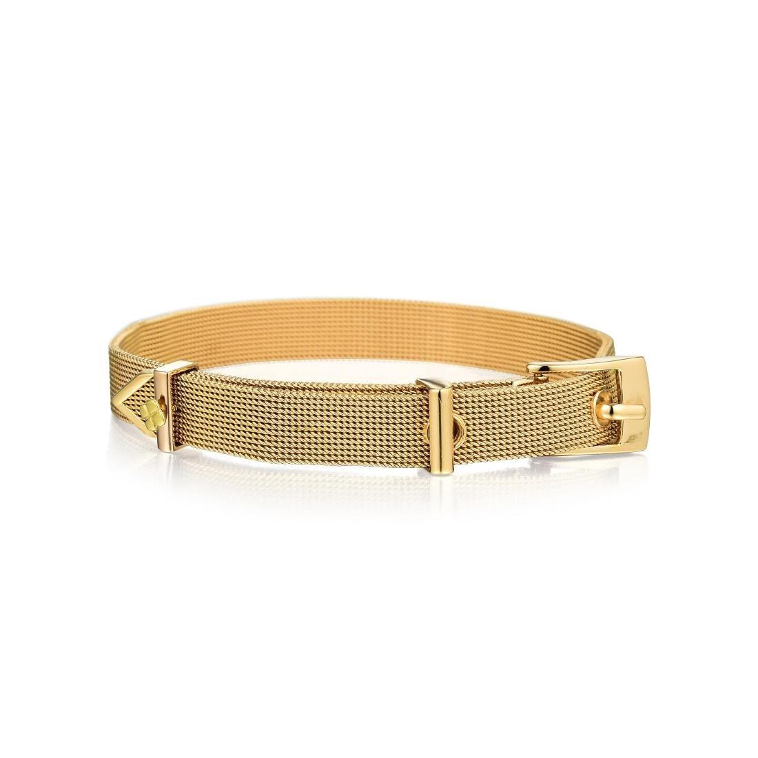 An 18K Gold Buckle Bracelet