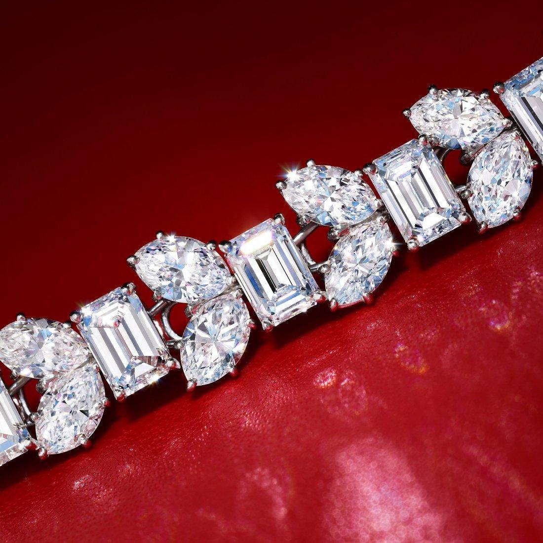 Harry Winston Platinum Diamond Bracelet