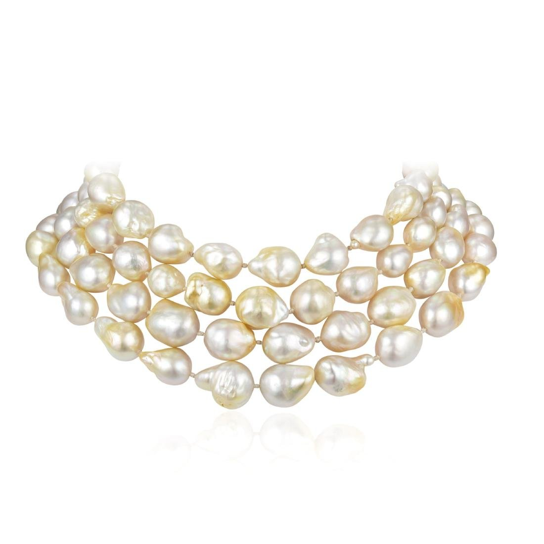Christopher Walling Cultured Baroque Pearl Necklace