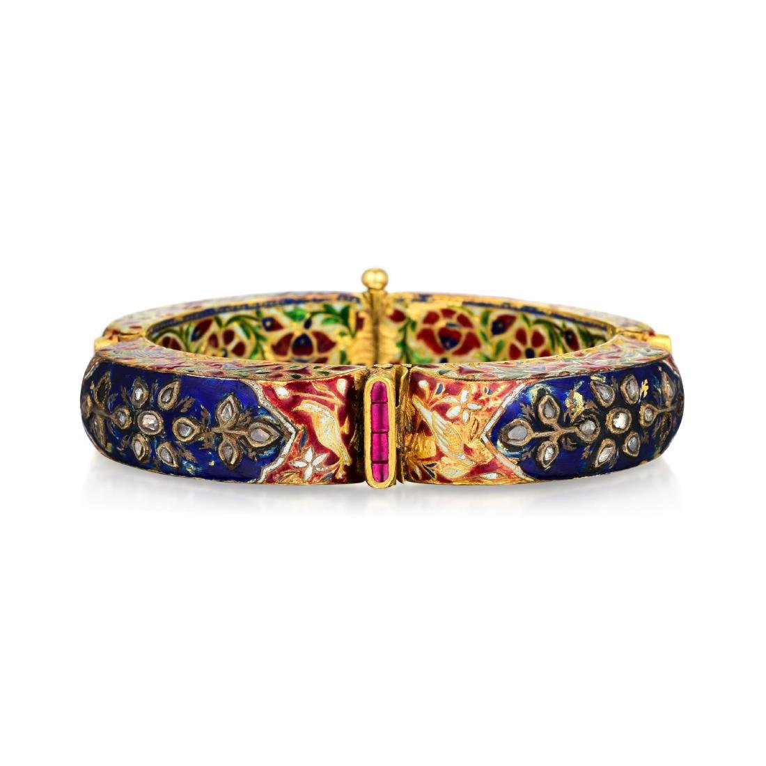 A Group of Indian Jewelry and Enamel Box - 5