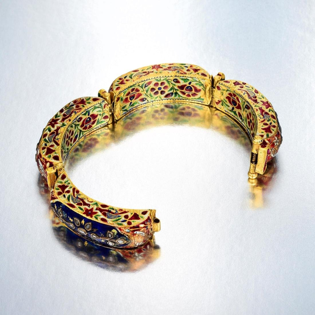 A Group of Indian Jewelry and Enamel Box - 8