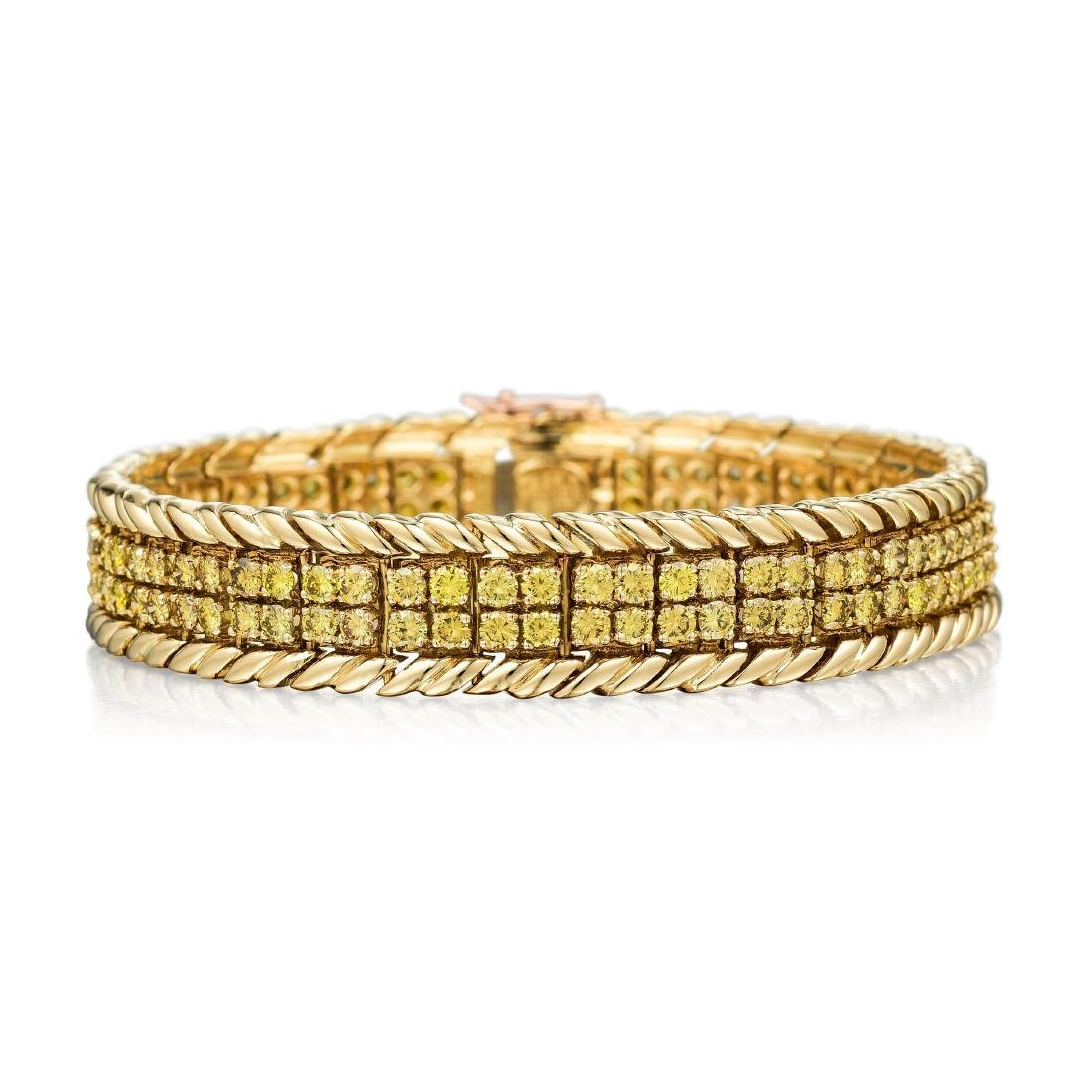 Verdura Yellow Diamond Line Bracelet