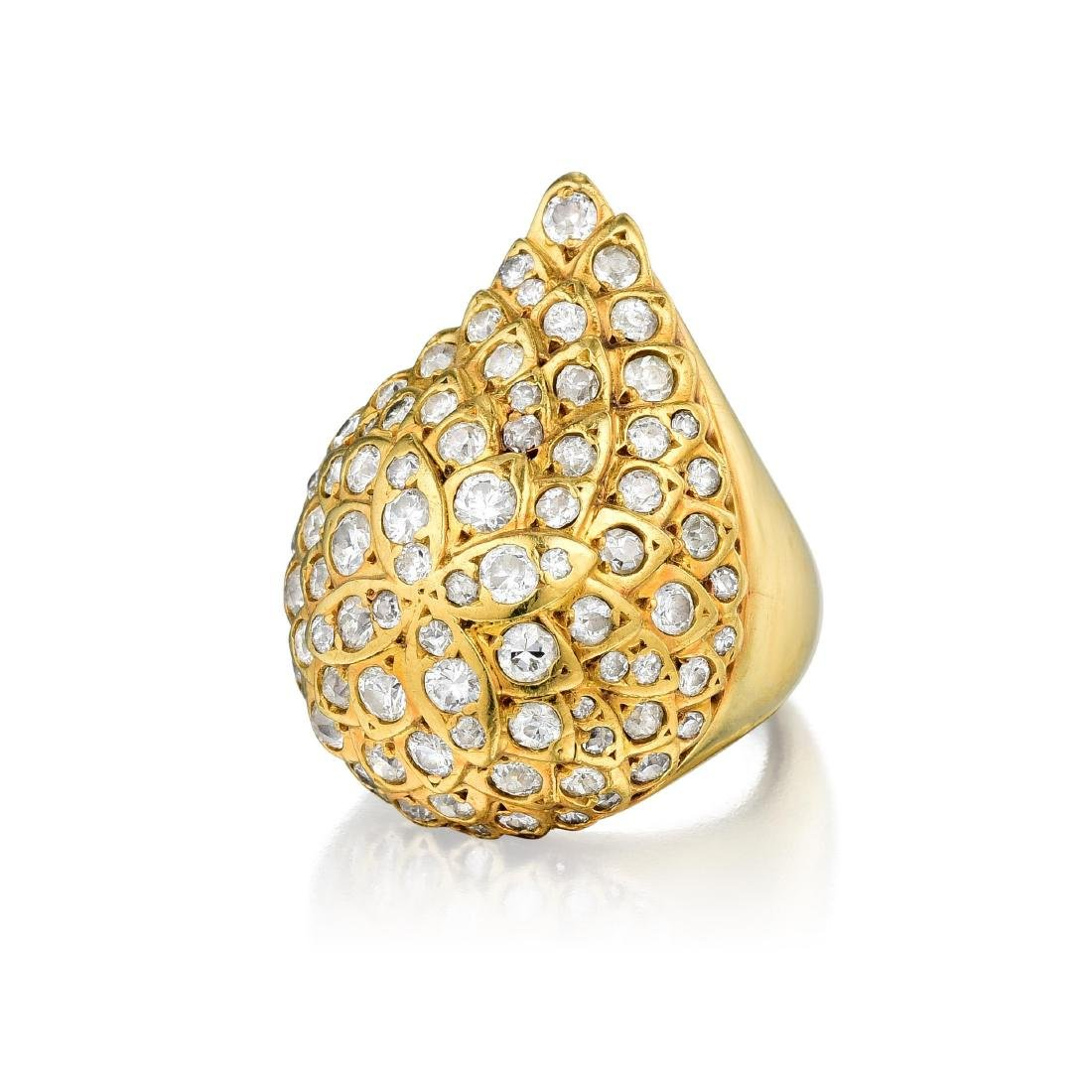 A Modified Gold and Diamond Ring