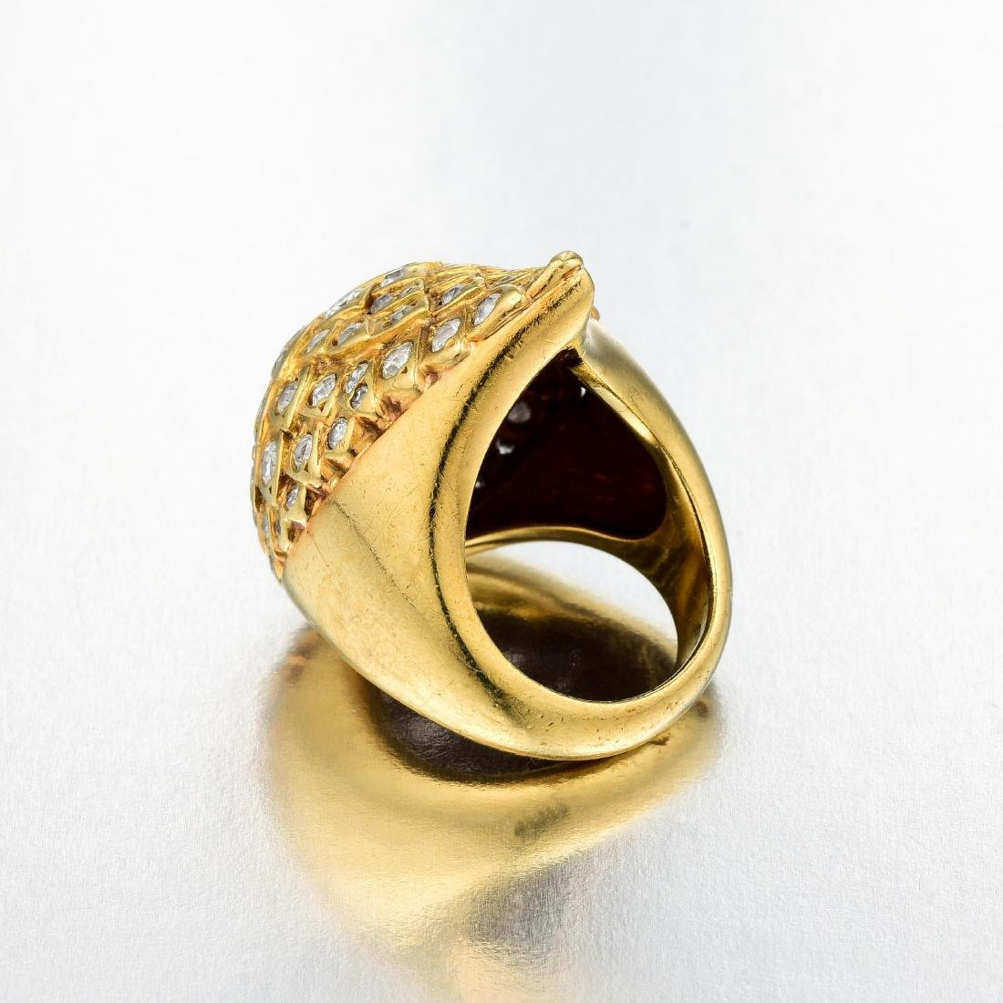 A Modified Gold and Diamond Ring - 2