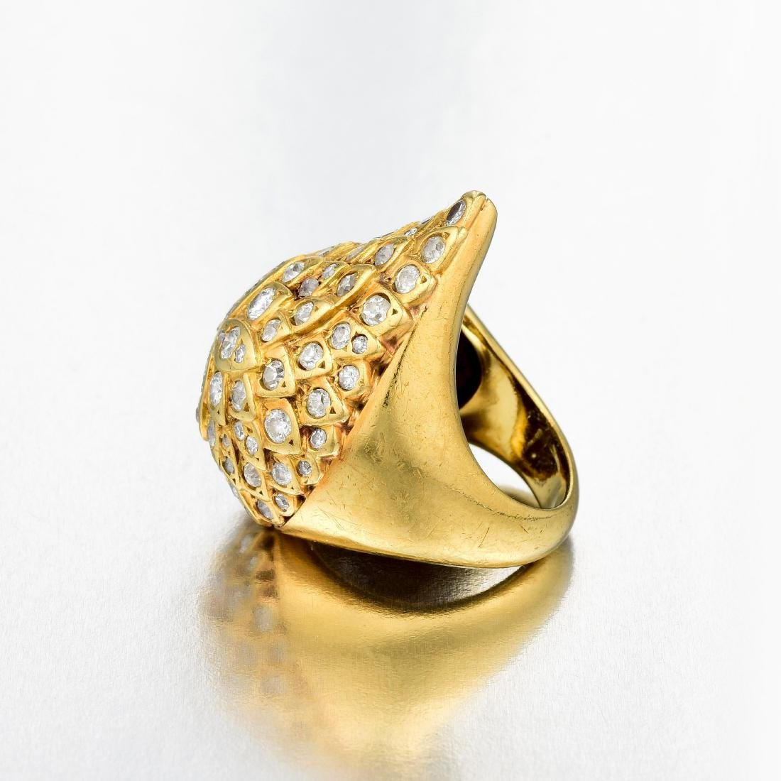A Modified Gold and Diamond Ring - 3