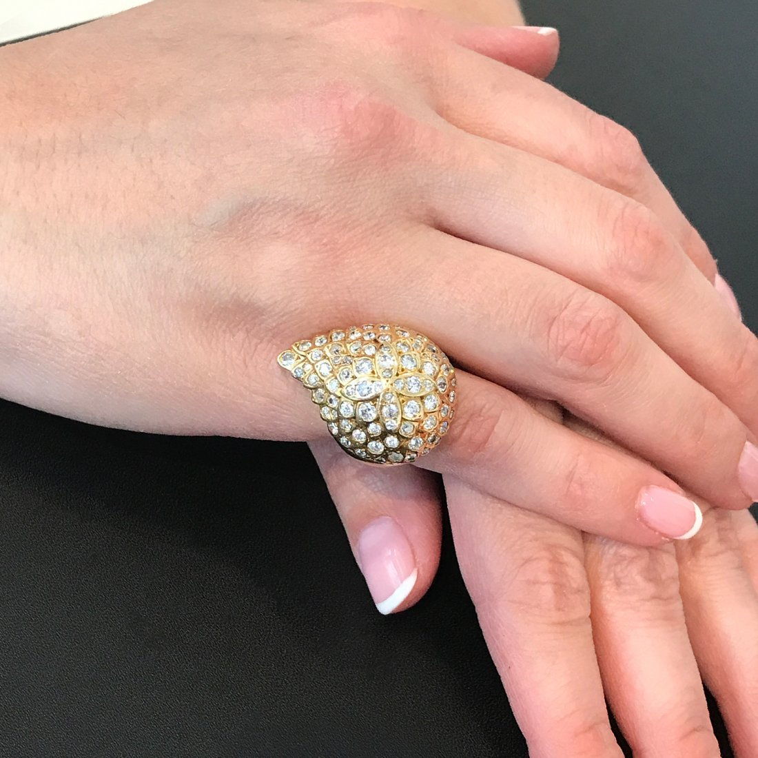 A Modified Gold and Diamond Ring - 4