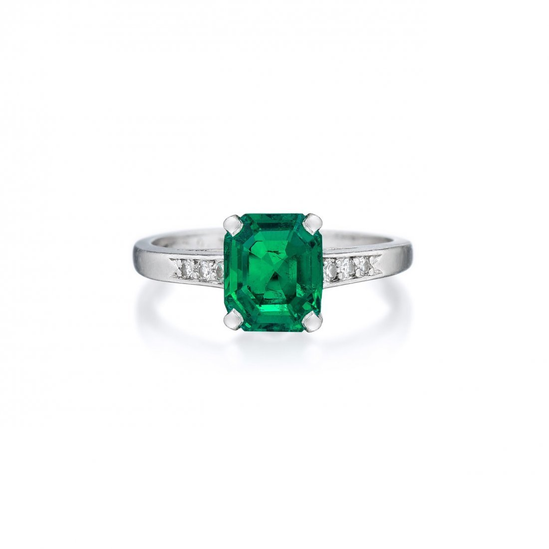 Cartier Art Deco Colombian Emerald and Diamond Ring