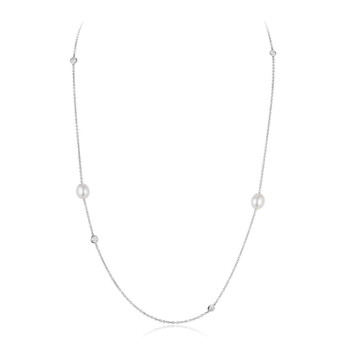 Tiffany & Co. Elsa Peretti Diamond and Keshi Pearl