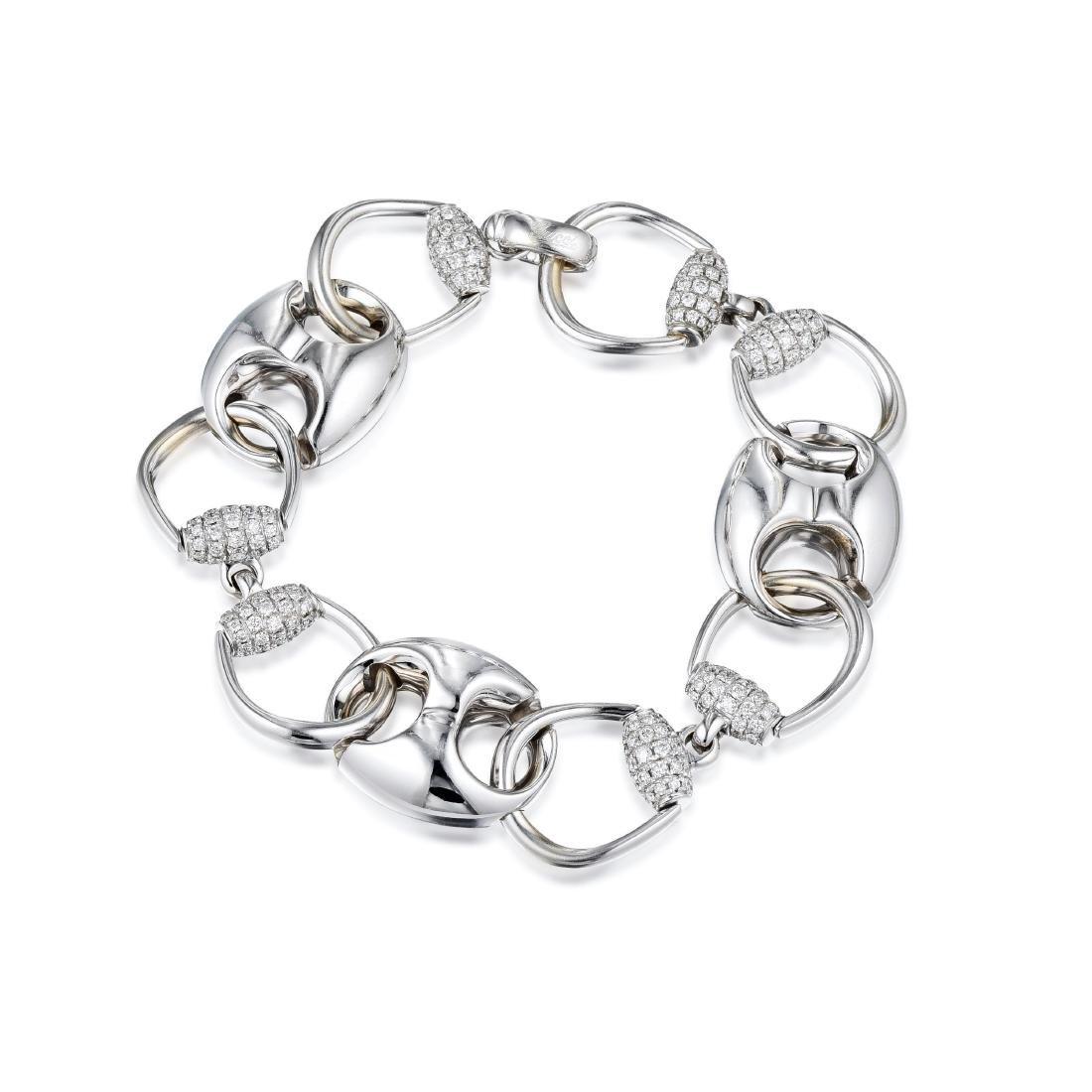 Gucci Horsebit Diamond Bracelet