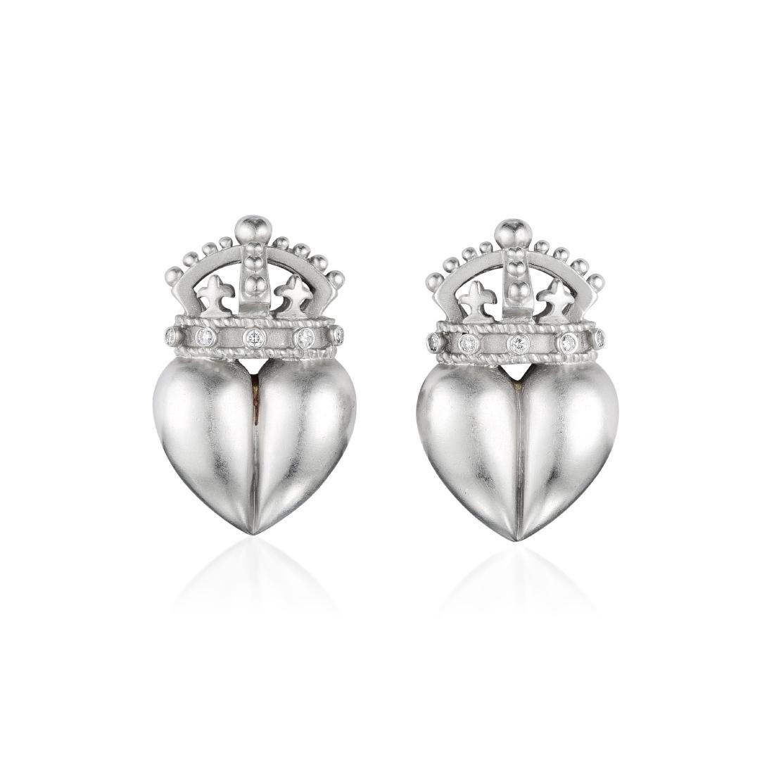 Kieselstein Cord Diamond Platinum Earrings