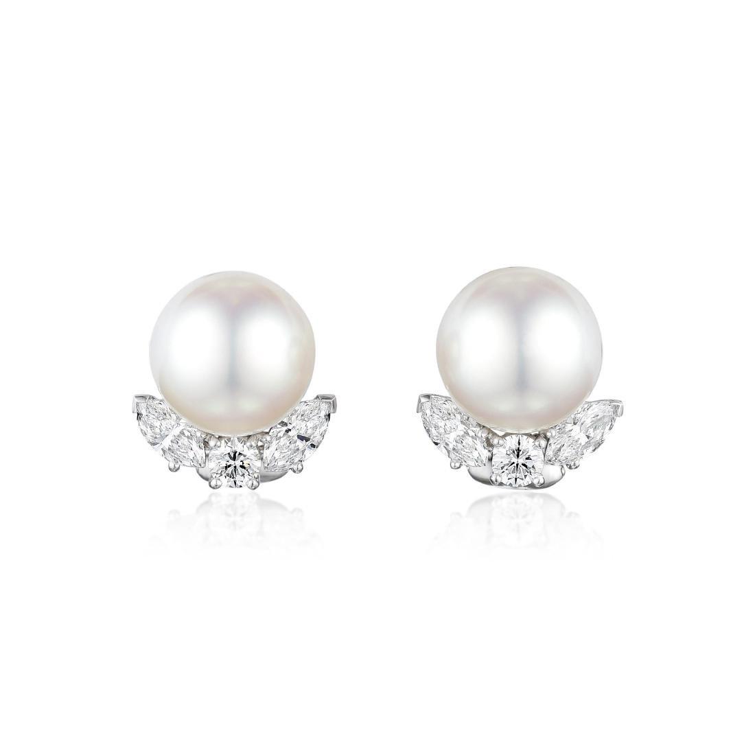Van Cleef & Arpels South Sea Pearl and Diamond Platinum