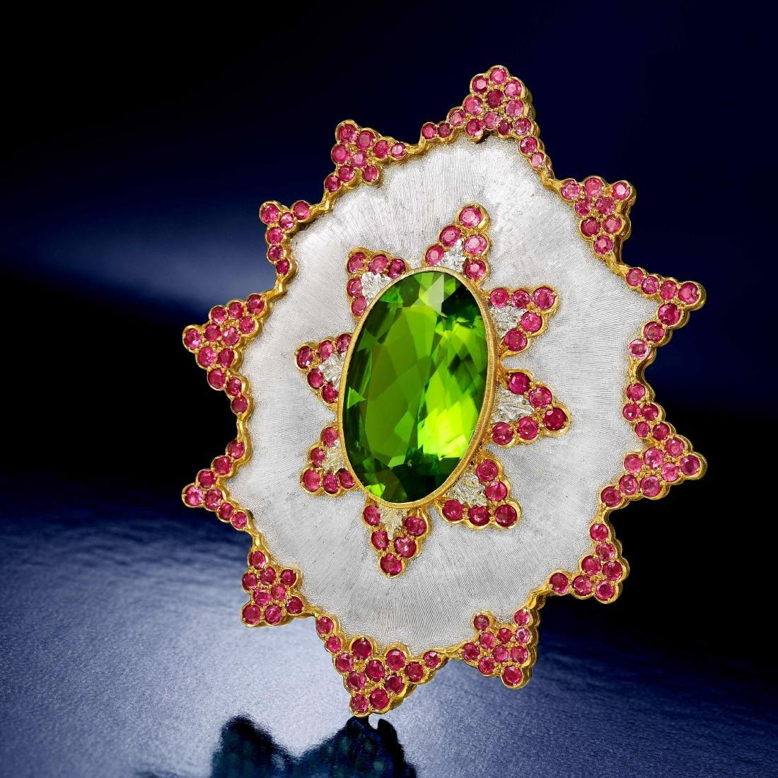 Buccellati Peridot Sapphire and Cultured Pearl