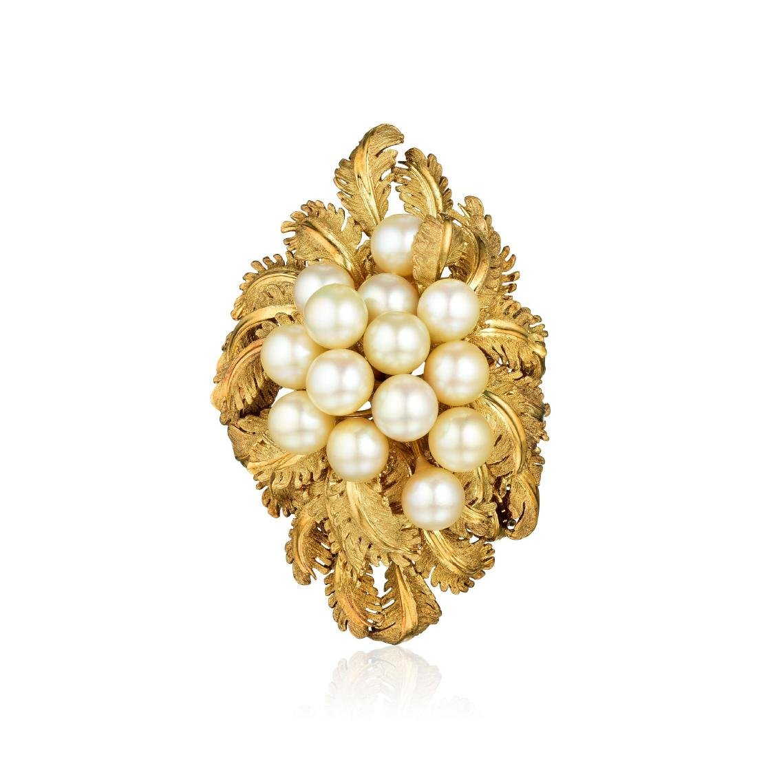 Erwin Pearl Cultured Pearl Brooch