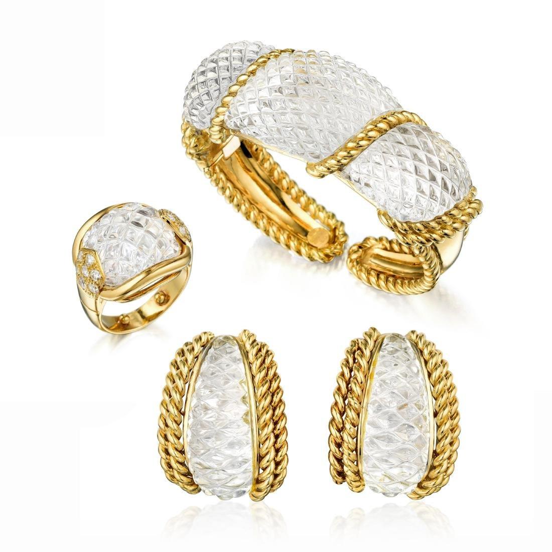 Sabbadini Rock Crystal Set