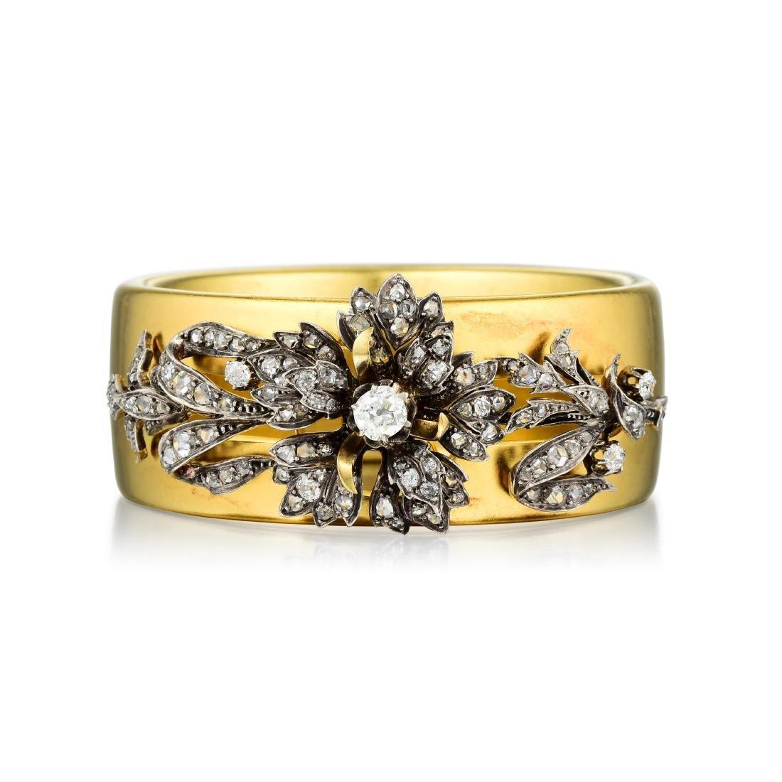 Victorian Diamond Pendant/Bangle, French