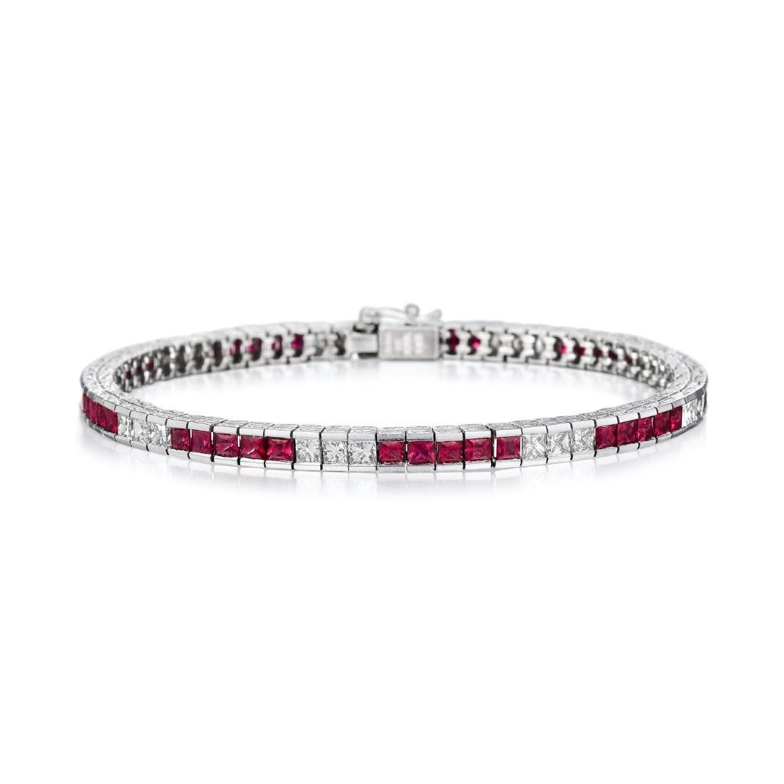A Ruby and Diamond Bracelet