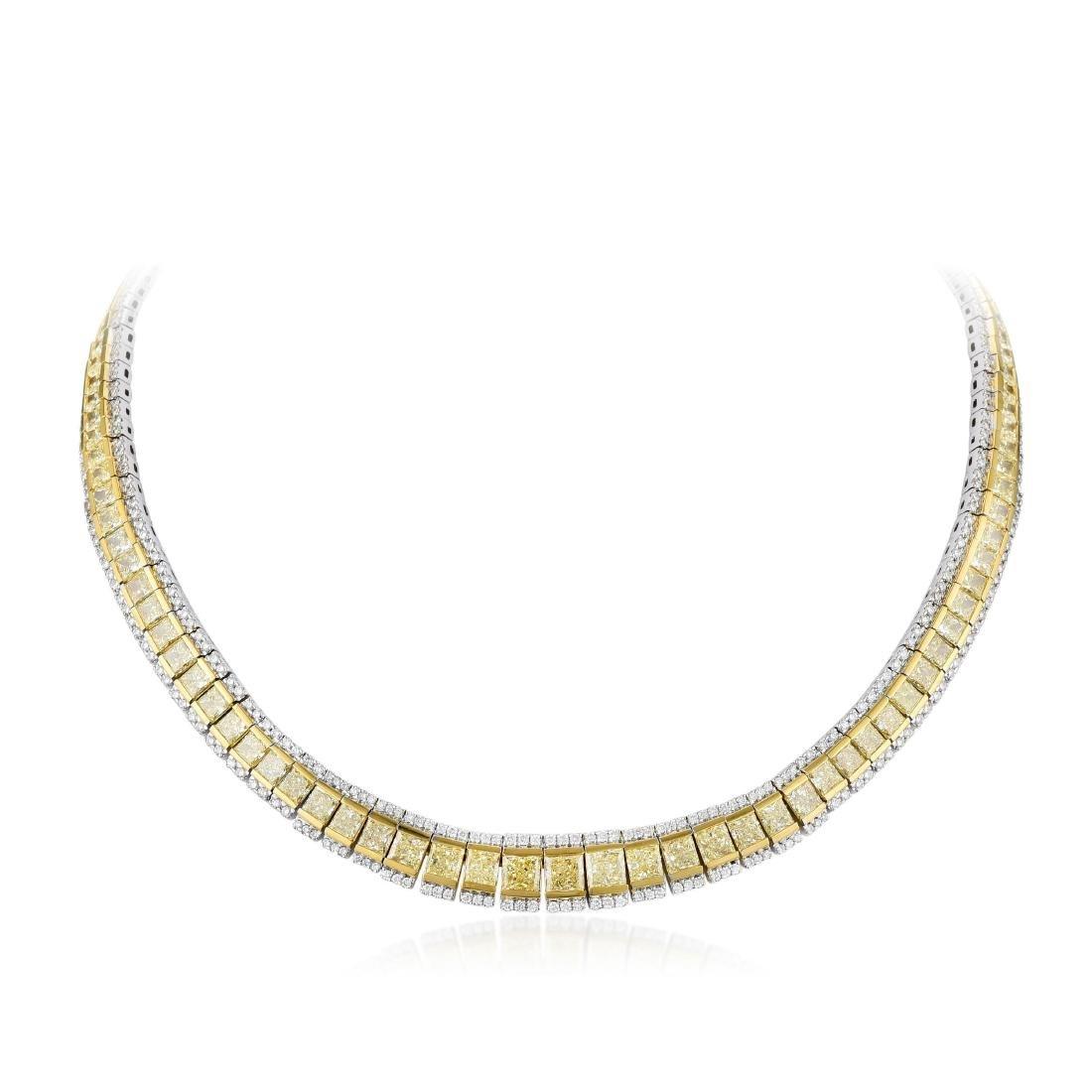 A Yellow Diamond Necklace