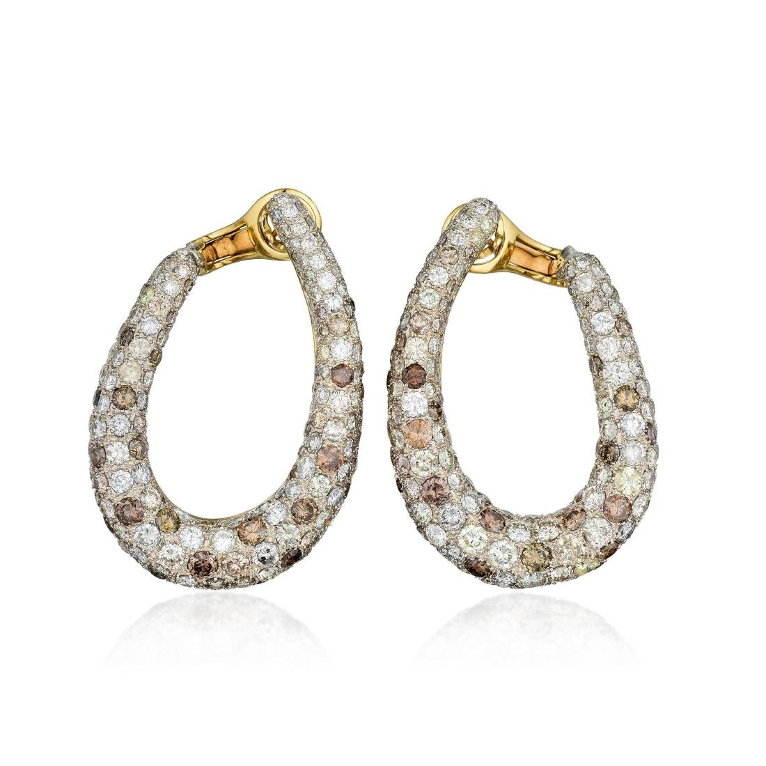 Diamond and Colored Diamond Earrings