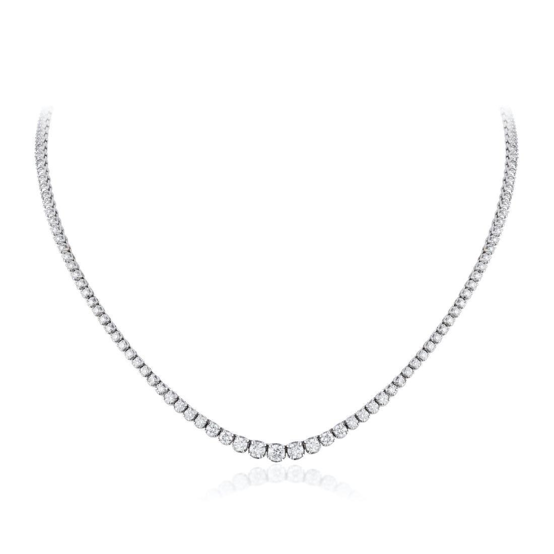 A Diamond Riviera Necklace