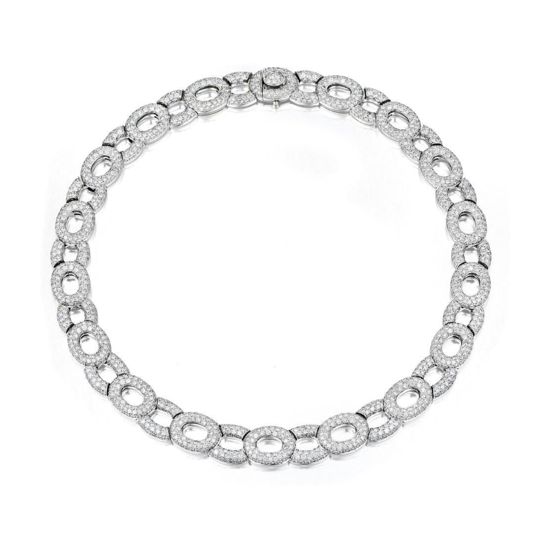 Valente Diamond Pave Link Necklace