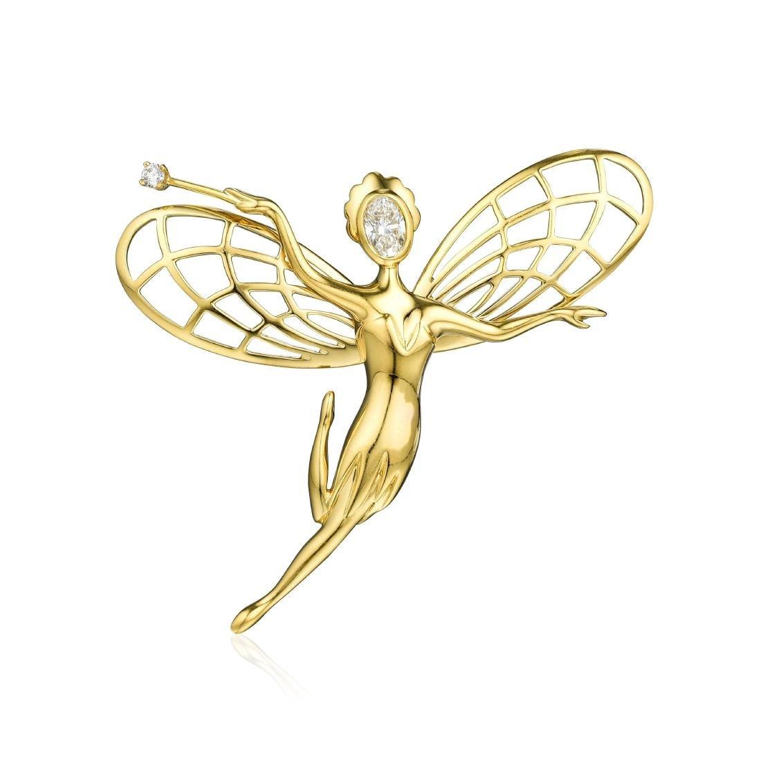 Van Cleef & Arpels Diamond Fairy Brooch