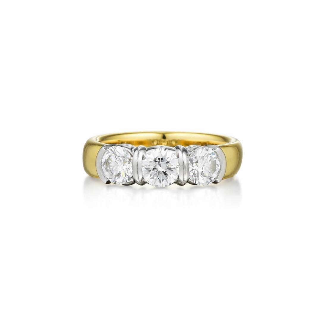 Tiffany & Co. Etoile Three Stone Diamond Ring