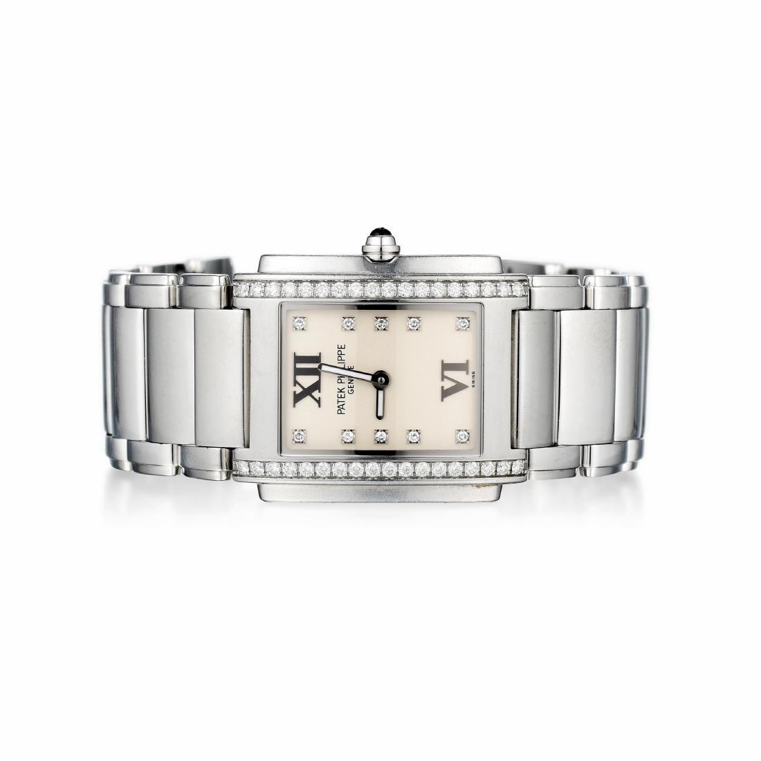 Patek Philippe Twenty~4 Ladies Steel and Diamond Watch