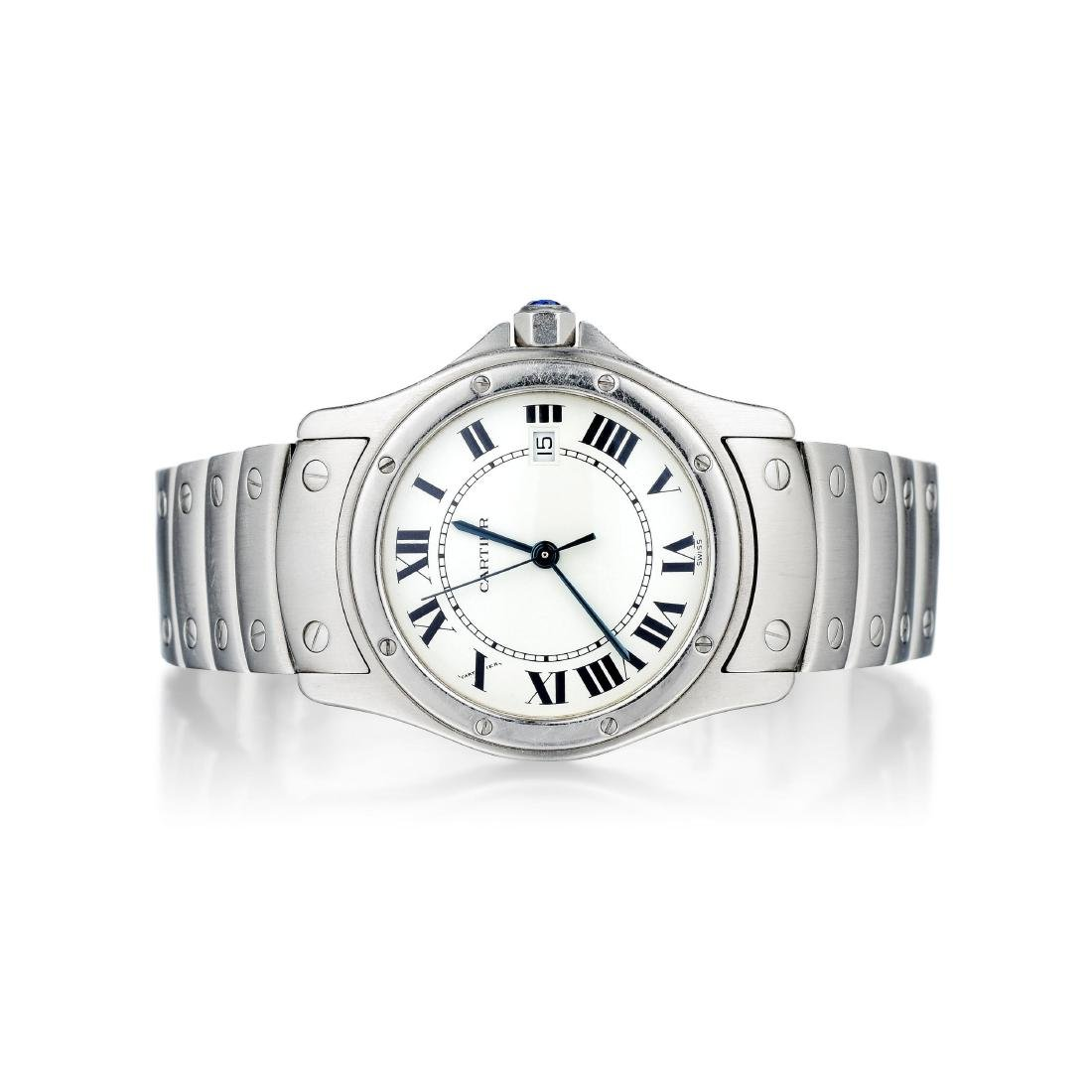 Cartier Santos Ronde Ladies Stainless Steel Watch ref.