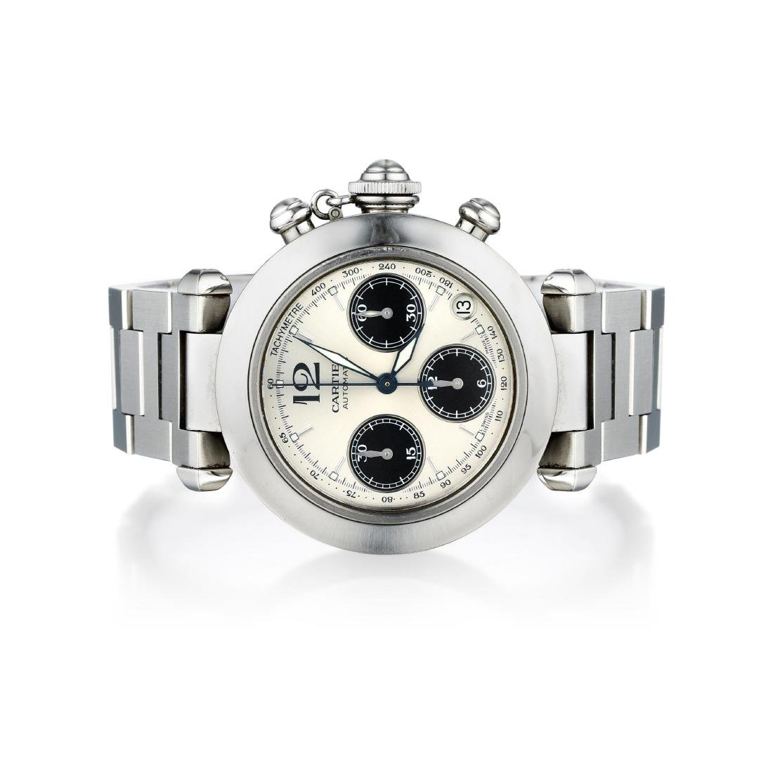 Cartier Pasha Chronograph Stainless Steel Watch ref.
