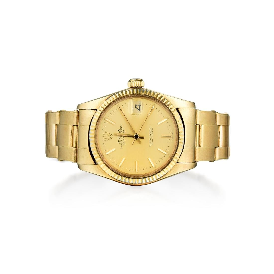 Rolex Mid-Size Gold Oyster Perpetual Datejust Watch
