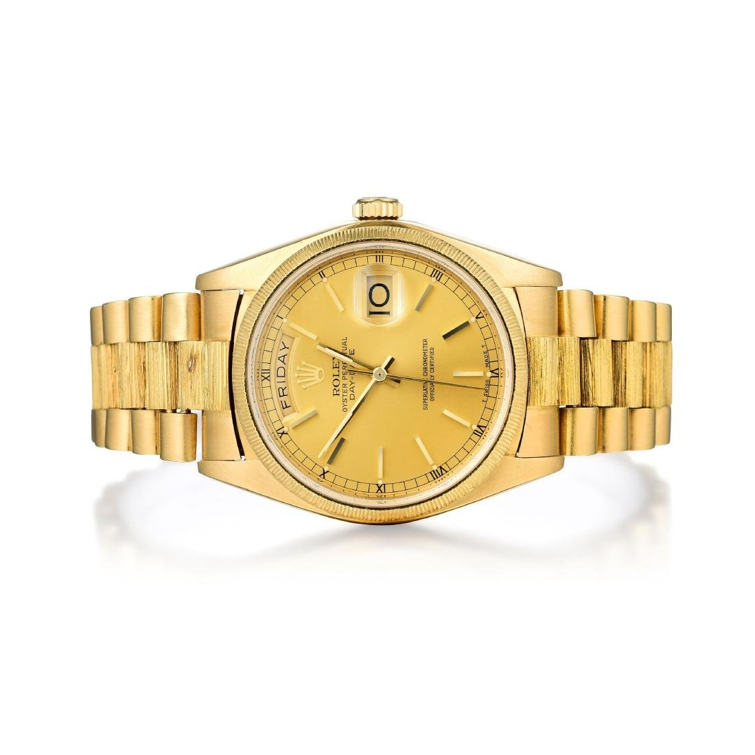 Rolex Gold Oyster Perpetual Day-Date Gentleman's Watch