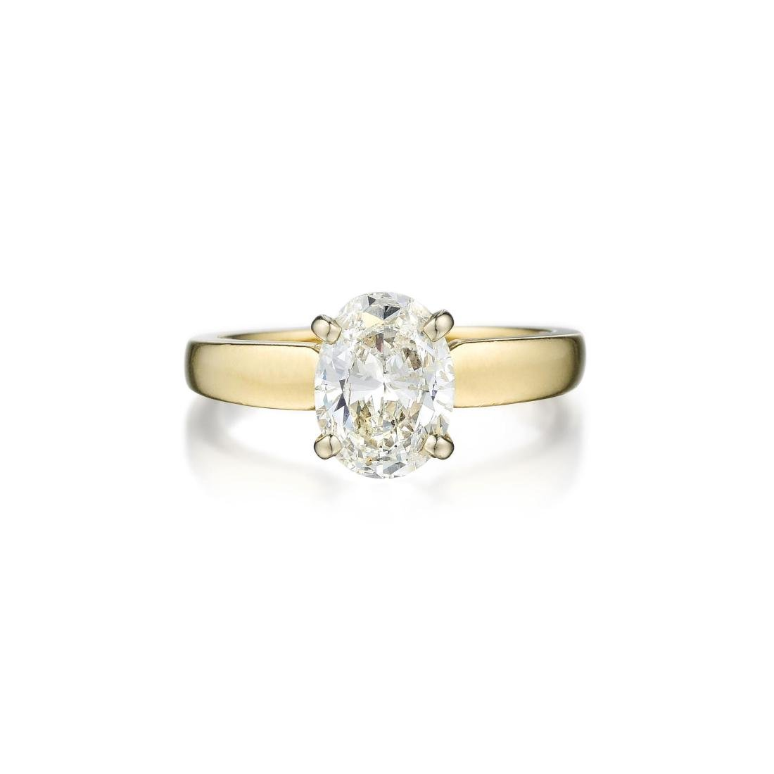 A 14K Gold Diamond Ring