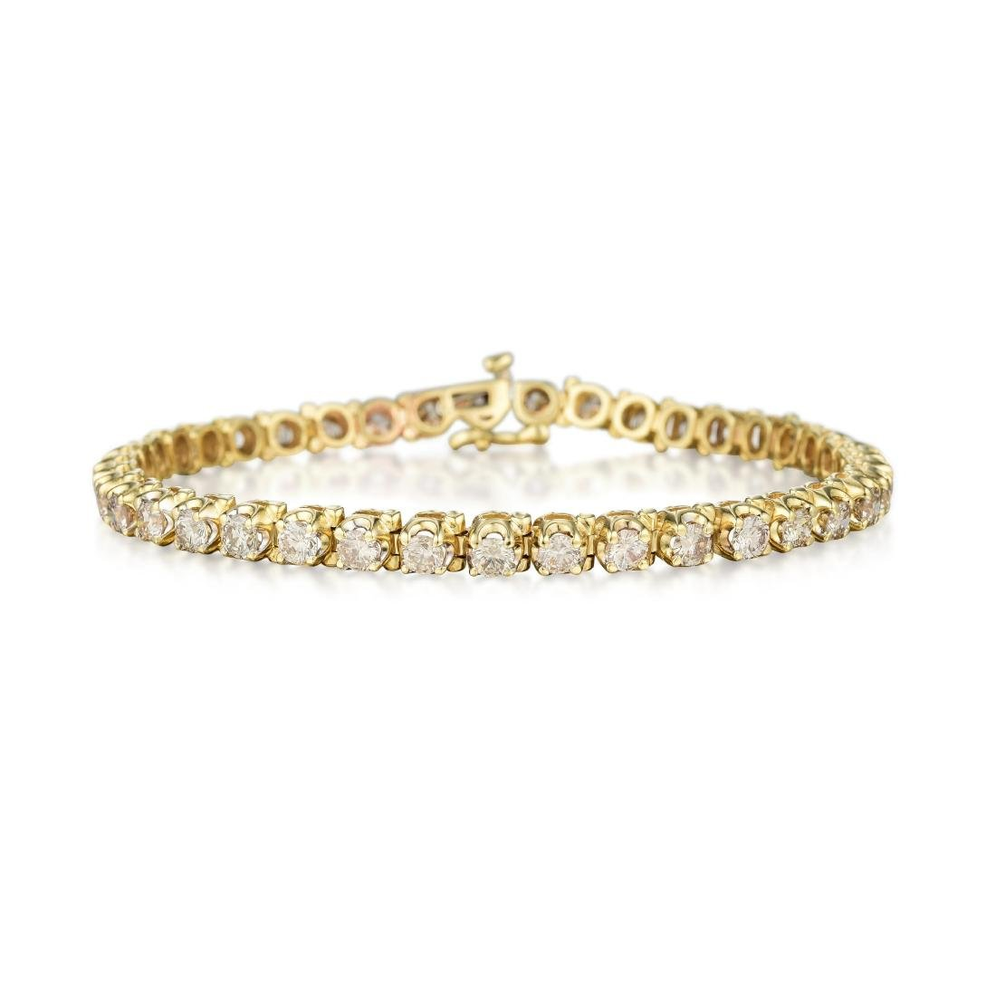 A 14K Gold Diamond Tennis Bracelet