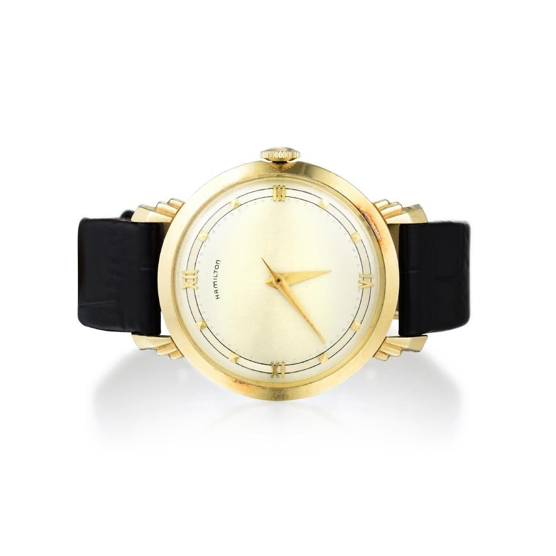 A 14K Gold Hamilton Men's Watch