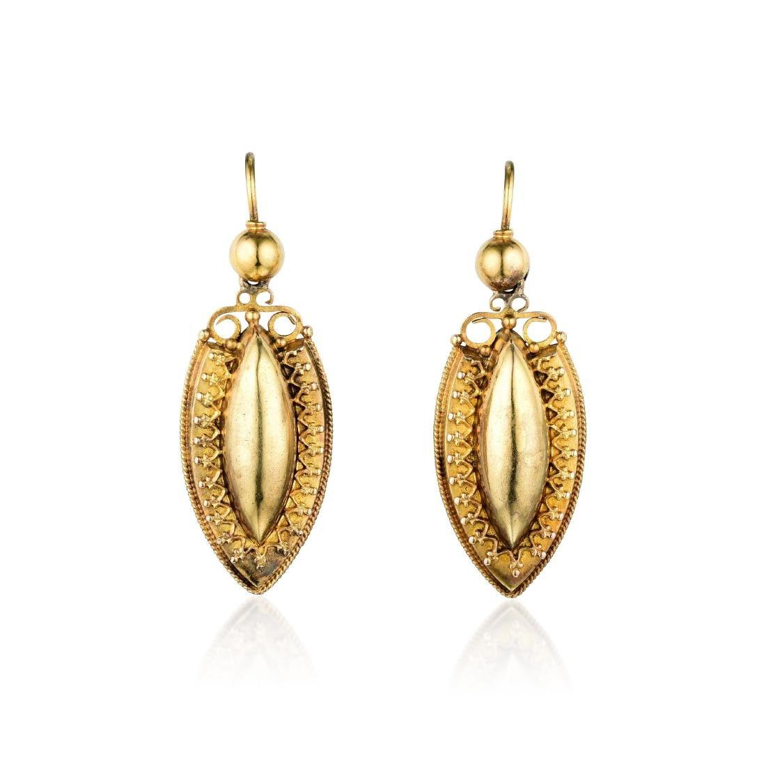 Victorian 14K Gold Earrings