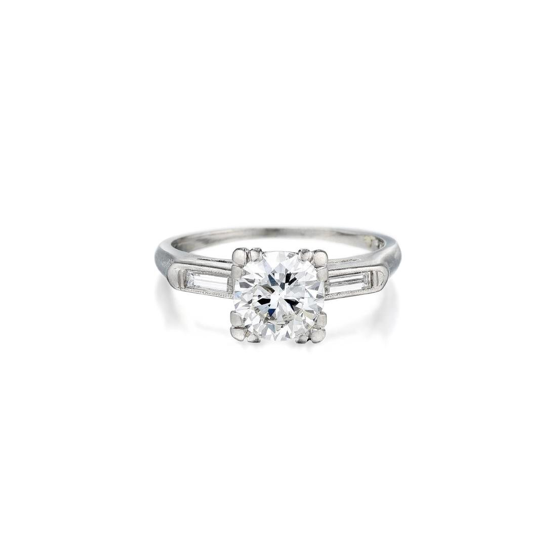 A Diamond Platinum Ring