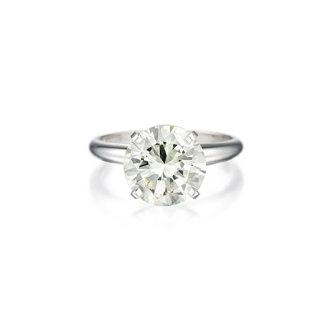A 3.61-Carat N VVS2 Diamond Ring