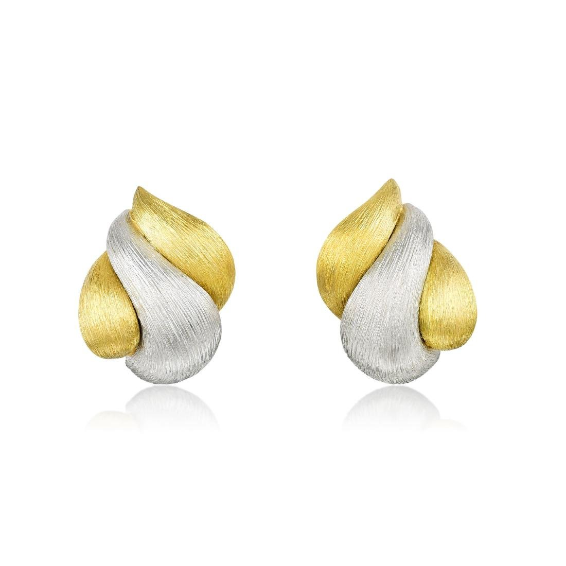 Henry Dunay Pin and Earring Set - 2