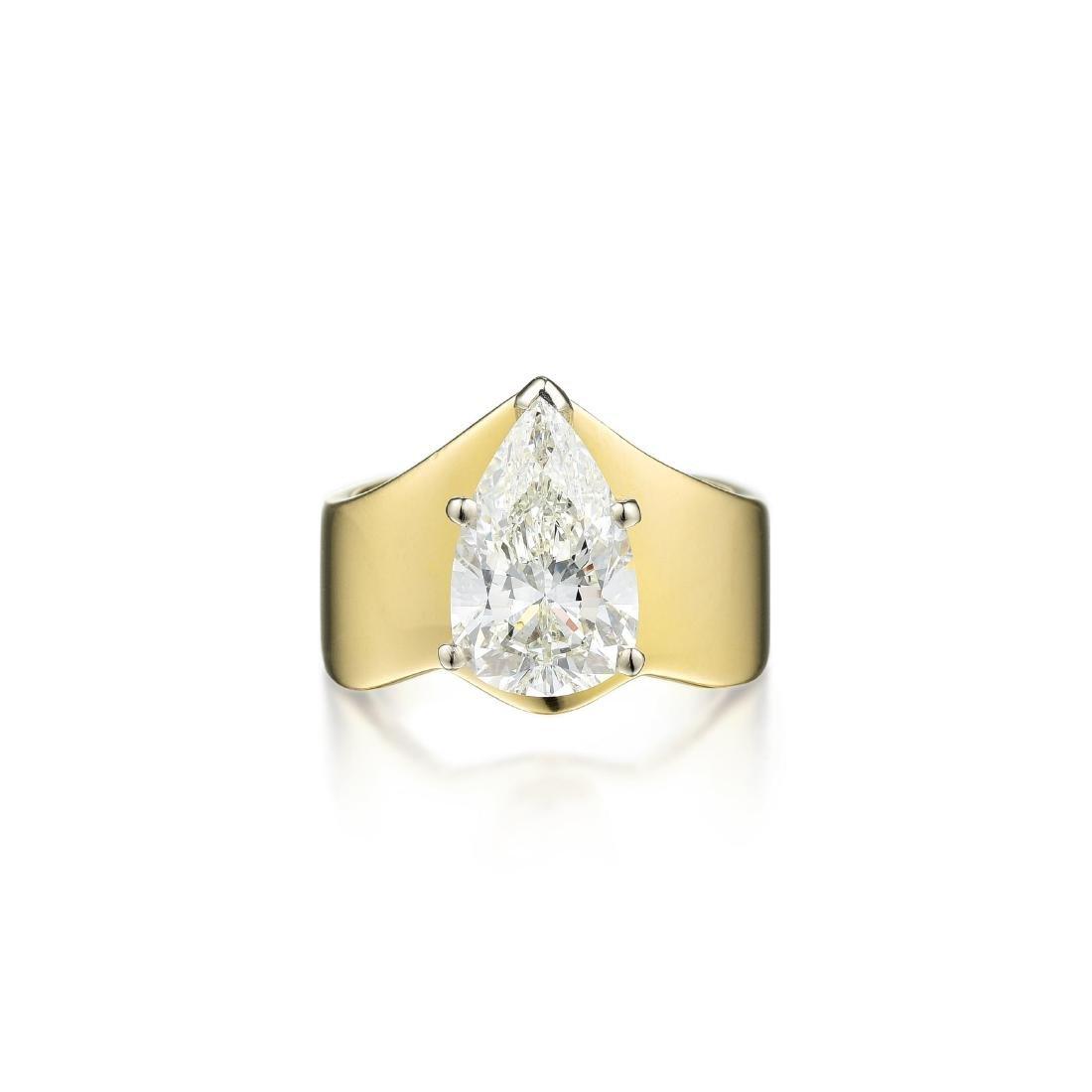 A 2.91-Carat H SI1 Diamond Ring