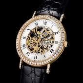 Breguet 18K Gold  Diamond Skeleton Watch ref BA 3020