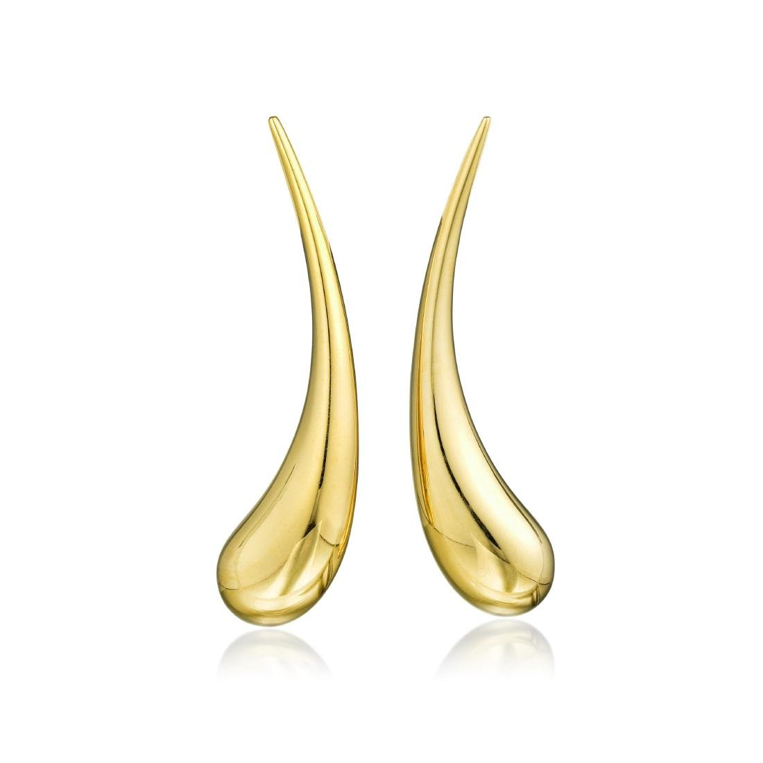 Tiffany & Co. Elsa Peretti 18K Gold Teardrop Earrings