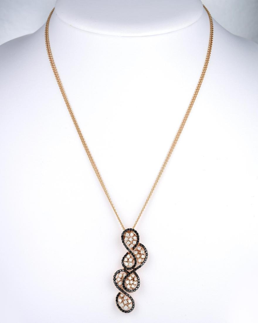 18K Gold Diamond Pendant Necklace - 3
