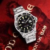 """Rolex """"Red"""" Submariner Ref. 1680 in Steel"""